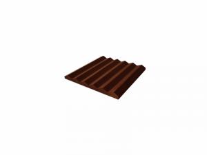 EZ Suede Wedges 5cm Chocolate