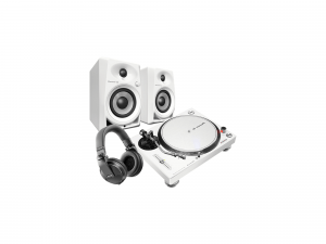 Pioneer PLX-500-W + DM-40-W+HDJ-X5S