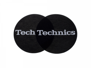 TECHNICS SLIPMAT BLACK/WHITE LOGO (Pair)