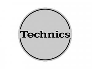 TECHNICS SLIPMAT SILVER/BLACK LOGO (Pair)