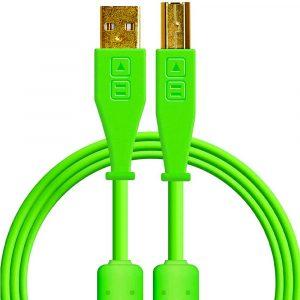Dj Techtools Chroma USB-B Cable Straight Green