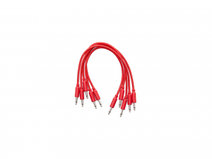 Erica Synths Braided Eurorack Patch Cables 20cm (5 pcs) (Black/White/Red)