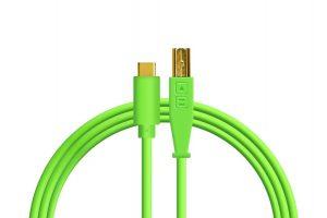 Dj Techtools Chroma USB-C Cable Neon Green