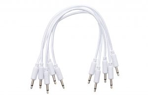 Erica Synths Braided Eurorack Patch Cables 30cm (5 pcs) (White)