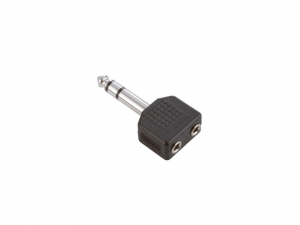 Adam Hall Y-Adapter 2 x 3.5 mm stereo Jack female to 6.3 mm stereo (7545)