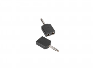 Adam Hall Y-Adapter 2 x 6.3 mm stereo Jack female to 6.3 mm stereo (7546)